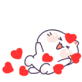 Cutie MOZZI Sticker for LINE & WhatsApp | ZIP: GIF & PNG