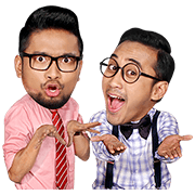 Danang and Darto's Let's Get Rich Sticker for LINE & WhatsApp | ZIP: GIF & PNG