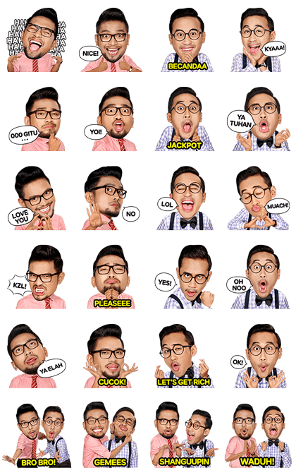 Danang and Darto's Let's Get Rich Line Sticker GIF & PNG Pack: Animated & Transparent No Background | WhatsApp Sticker