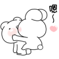 Everyday Love Usakkuma Greetings Sticker for LINE & WhatsApp | ZIP: GIF & PNG