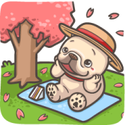 French Bulldog-PIGU Effect Stickers Sticker for LINE & WhatsApp | ZIP: GIF & PNG