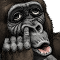 Gorilla Gorilla Big Stickers Sticker for LINE & WhatsApp | ZIP: GIF & PNG