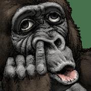 Gorilla Gorilla Big Stickers Sticker for LINE & WhatsApp | ZIP: GIF & PNG