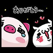 JTB J-ton × URESHISUGI NYANKO Sticker for LINE & WhatsApp | ZIP: GIF & PNG