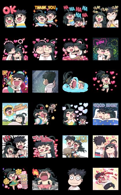 Jun Lemon Effect Stickers Line Sticker GIF & PNG Pack: Animated & Transparent No Background | WhatsApp Sticker
