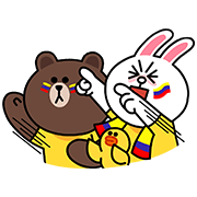 LINE Characters: Go La Tricolor! Sticker for LINE & WhatsApp | ZIP: GIF & PNG