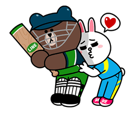 LINE character's Cricket Challenge! Sticker for LINE & WhatsApp | ZIP: GIF & PNG