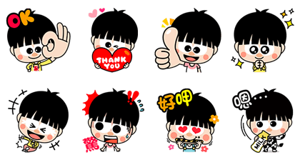 Lucky XGD Line Sticker GIF & PNG Pack: Animated & Transparent No Background | WhatsApp Sticker