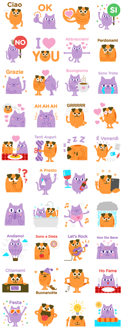 Missy and Rusty Line Sticker GIF & PNG Pack: Animated & Transparent No Background | WhatsApp Sticker