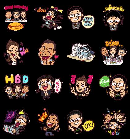 Ruenglao 12th Anniversary Line Sticker GIF & PNG Pack: Animated & Transparent No Background | WhatsApp Sticker