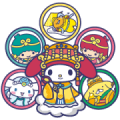 Sanrio Characters dressed as lovely gods Sticker for LINE & WhatsApp | ZIP: GIF & PNG