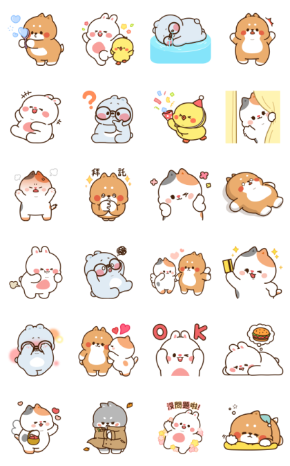 Tonton Friends Effect Stickers Line Sticker GIF & PNG Pack: Animated & Transparent No Background | WhatsApp Sticker