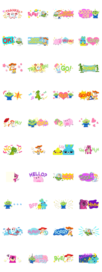 Toy Story (Mini Paper Cutouts) Line Sticker GIF & PNG Pack: Animated & Transparent No Background | WhatsApp Sticker