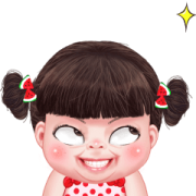 Yuan yuan Naughty Girl Sticker for LINE & WhatsApp | ZIP: GIF & PNG