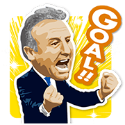Zaccheroni: Get your YELL on. Sticker for LINE & WhatsApp | ZIP: GIF & PNG