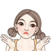 Angela So Cute Animated Sticker for LINE & WhatsApp | ZIP: GIF & PNG