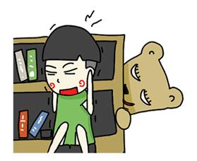 Beargirlfriend Love Story Sticker for LINE & WhatsApp | ZIP: GIF & PNG