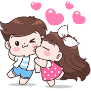 Boobib Couple Effect Stickers Sticker for LINE & WhatsApp | ZIP: GIF & PNG