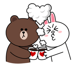 Brown & Cony's Cozy Winter Date Sticker for LINE & WhatsApp | ZIP: GIF & PNG