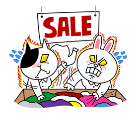 Cony's Happy Work Life Sticker for LINE & WhatsApp | ZIP: GIF & PNG