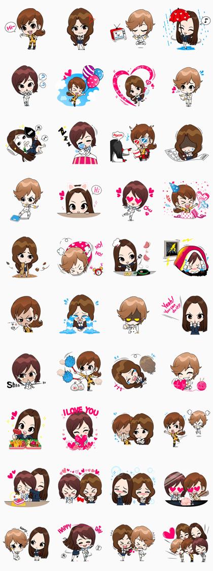 KARA Line Sticker GIF & PNG Pack: Animated & Transparent No Background   WhatsApp Sticker