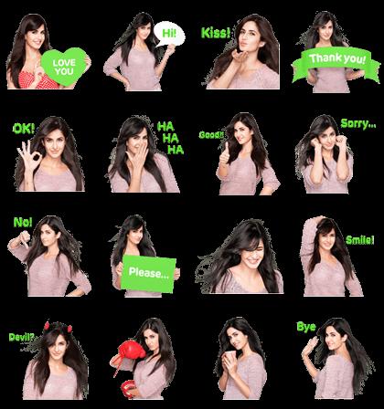 Katrina Kaif Line Sticker GIF & PNG Pack: Animated & Transparent No Background   WhatsApp Sticker