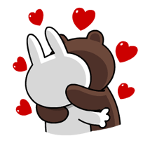 LINE Characters: All the Love Sticker for LINE & WhatsApp | ZIP: GIF & PNG