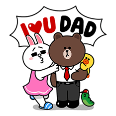 LINE Characters: Family Special Sticker for LINE & WhatsApp | ZIP: GIF & PNG