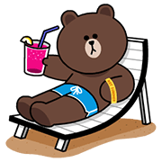 LINE Characters - Happy Vacations Sticker for LINE & WhatsApp | ZIP: GIF & PNG