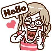 Look forward to Deeply-touched Sticker for LINE & WhatsApp | ZIP: GIF & PNG
