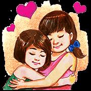Mana Manee Memories of Childhood Sticker for LINE & WhatsApp | ZIP: GIF & PNG