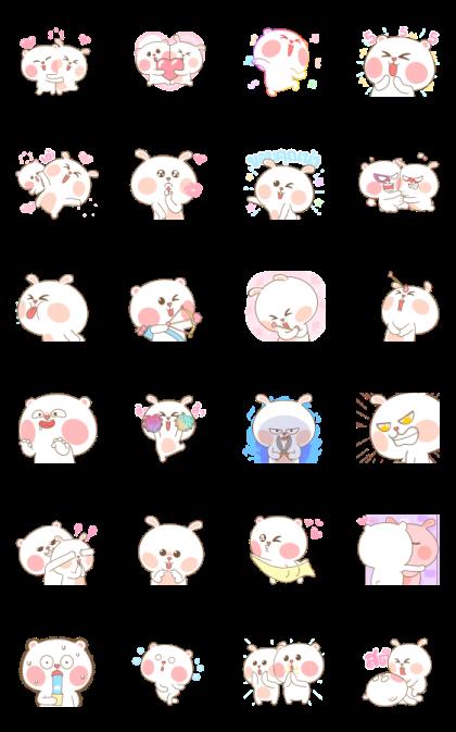 MheeNoom & TaiNim 6 Line Sticker GIF & PNG Pack: Animated & Transparent No Background | WhatsApp Sticker