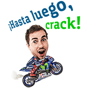 Movistar Yamaha MotoGP Lorenzo Sticker for LINE & WhatsApp | ZIP: GIF & PNG