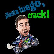 Movistar Yamaha MotoGP Lorenzo Sticker for LINE & WhatsApp | ZIP: GIF & PNG