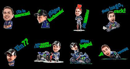 Movistar Yamaha MotoGP Lorenzo Line Sticker GIF & PNG Pack: Animated & Transparent No Background | WhatsApp Sticker