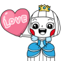 Ms Big Royal Style Animated Stickers