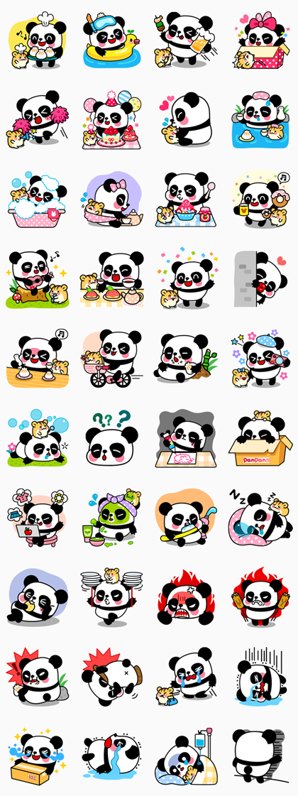 Pan & Ham Line Sticker GIF & PNG Pack: Animated & Transparent No Background | WhatsApp Sticker