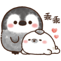 Pastel Penguin Sticker for LINE & WhatsApp | ZIP: GIF & PNG