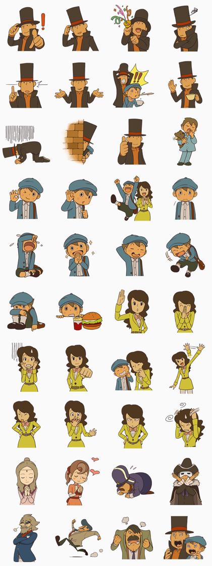 Professor Layton Line Sticker GIF & PNG Pack: Animated & Transparent No Background   WhatsApp Sticker