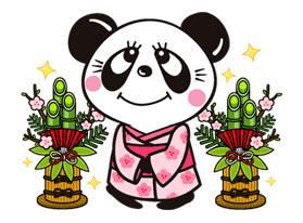 RUNE.NAITO(Panda & Girl) Sticker for LINE & WhatsApp   ZIP: GIF & PNG