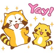 Rascal Moving Backgrounds Sticker for LINE & WhatsApp | ZIP: GIF & PNG