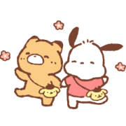 Sanrio Characters & LittlePopcorn Sticker for LINE & WhatsApp | ZIP: GIF & PNG