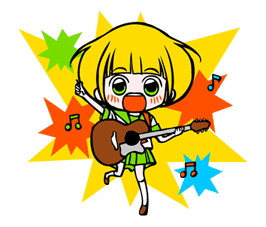She has a crush on a liar Sticker for LINE & WhatsApp | ZIP: GIF & PNG