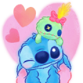 Stitch [BIG] Stickers (Cuddly)