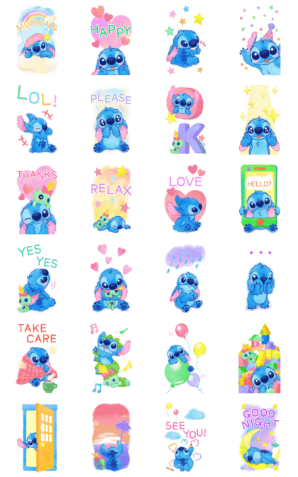 Stitch Big Stickers (Cuddly) Line Sticker GIF & PNG Pack: Animated & Transparent No Background | WhatsApp Sticker