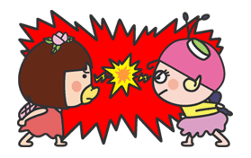 The message of flower blooming HANAKAPPA Sticker for LINE & WhatsApp | ZIP: GIF & PNG