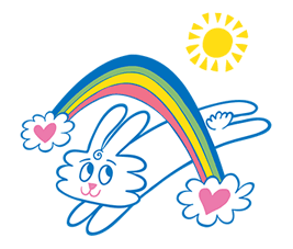 Thunder Bunny Sticker for LINE & WhatsApp   ZIP: GIF & PNG
