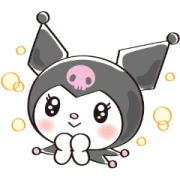 Too Cute Kuromi Sticker for LINE & WhatsApp | ZIP: GIF & PNG