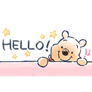 Winnie the Pooh Bite-Sized Stickers Sticker for LINE & WhatsApp | ZIP: GIF & PNG