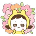 Yellow Little Hat Zzozo Sticker for LINE & WhatsApp | ZIP: GIF & PNG